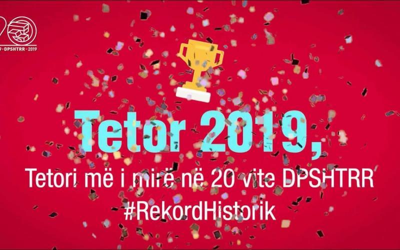 Raporti Janar - Tetor 2019 DPSHTRR!